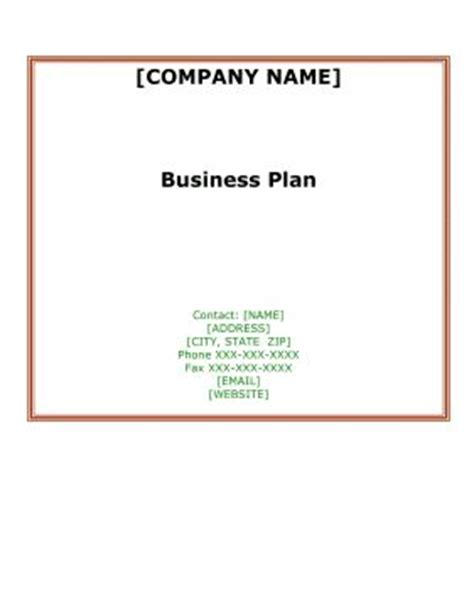 free business plan templates for small businesses